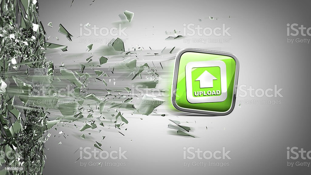 APPS icon breaks glass royalty-free stock photo