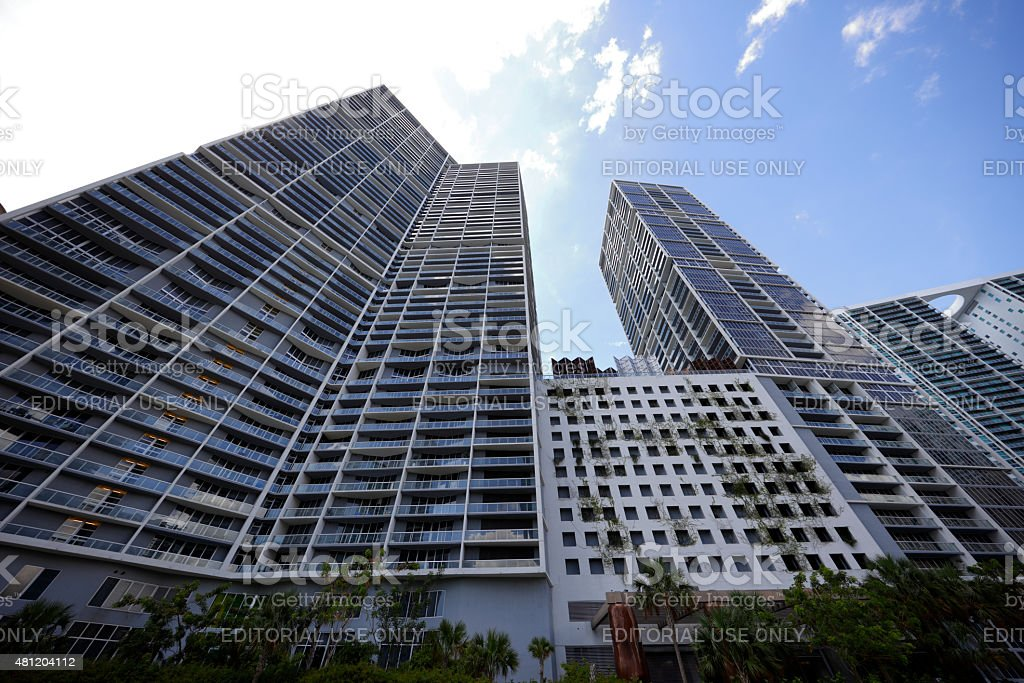 Icon Brickell architecture stock photo