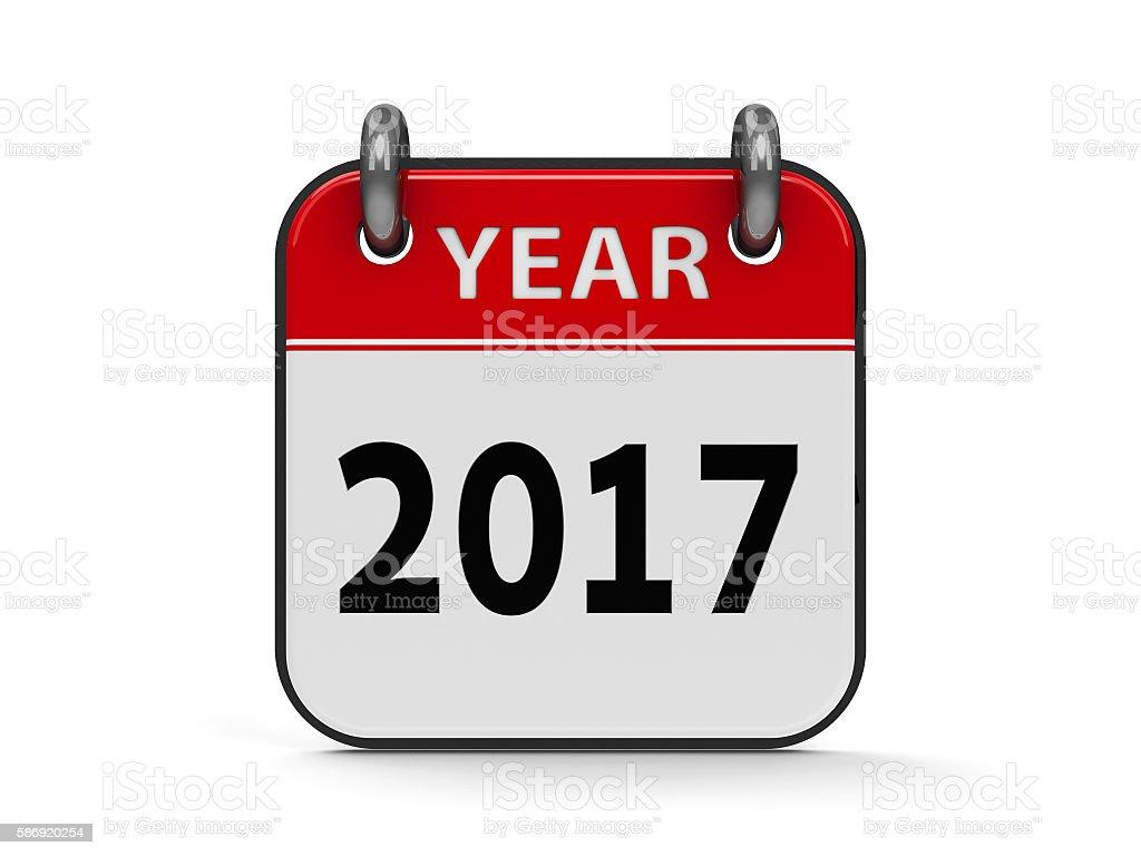 Icon calendar 2017 year #2 stock photo
