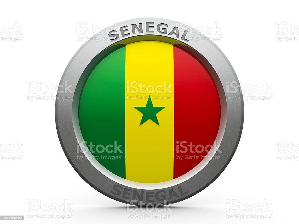 Icon - Flag of Senegal stock photo