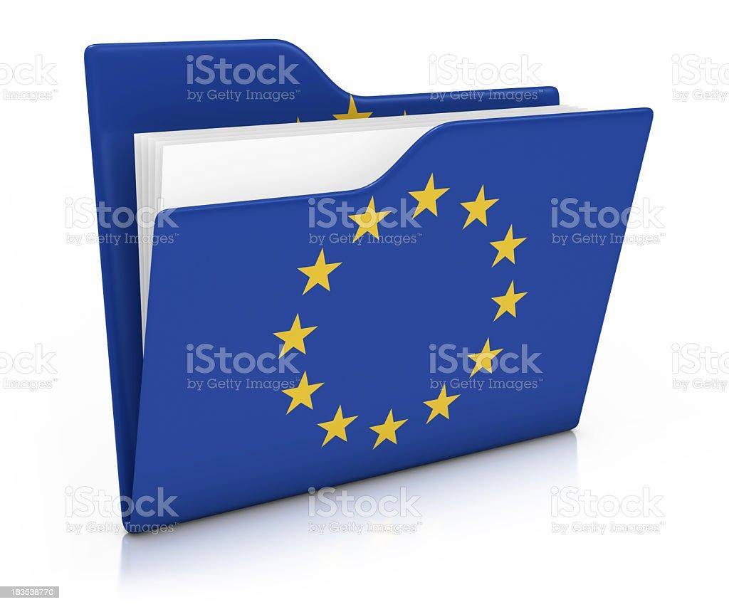 Icon Folder - EU Flag royalty-free stock photo