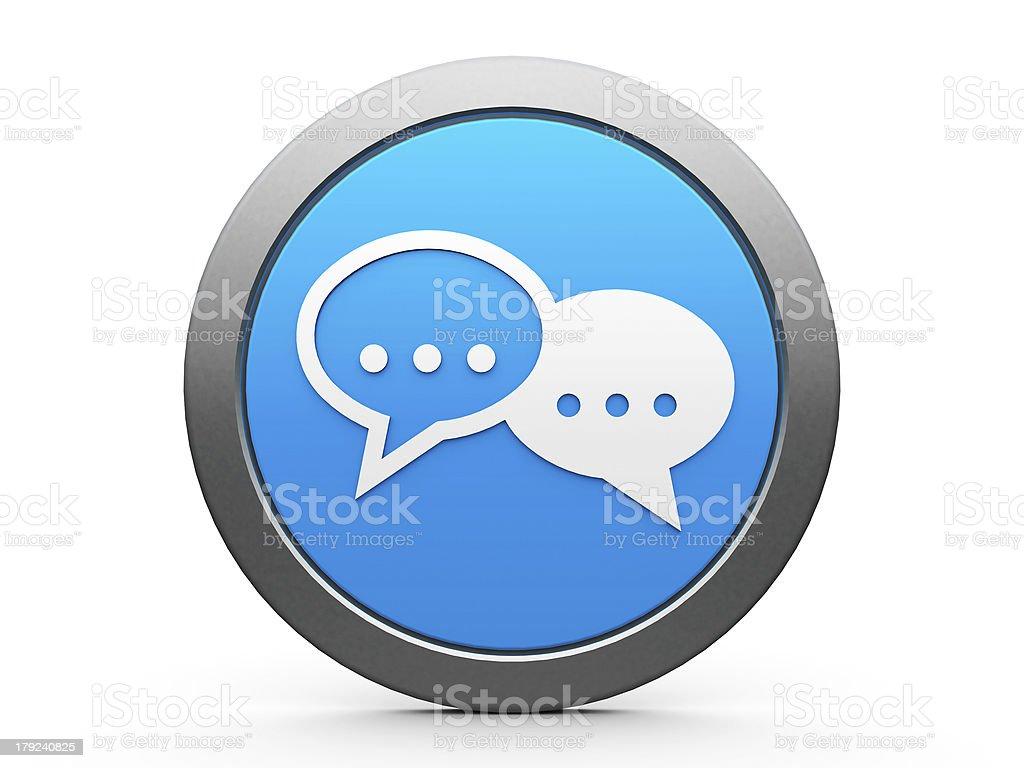 Icon internet conversation royalty-free stock photo
