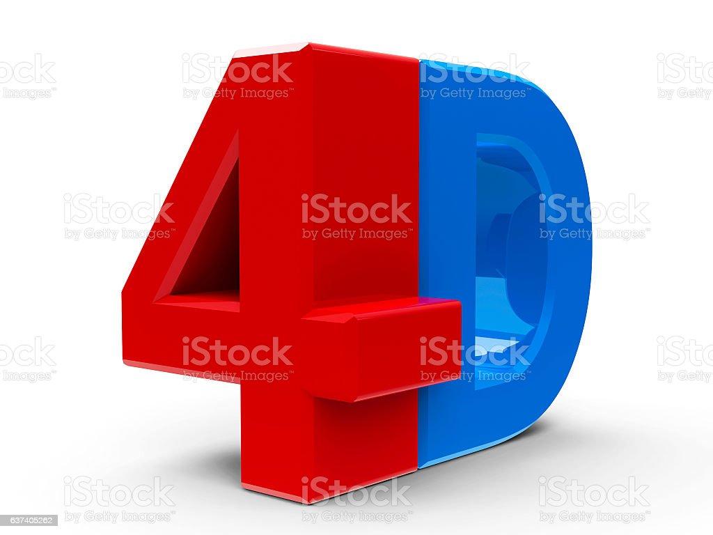 4D icon isometry stock photo