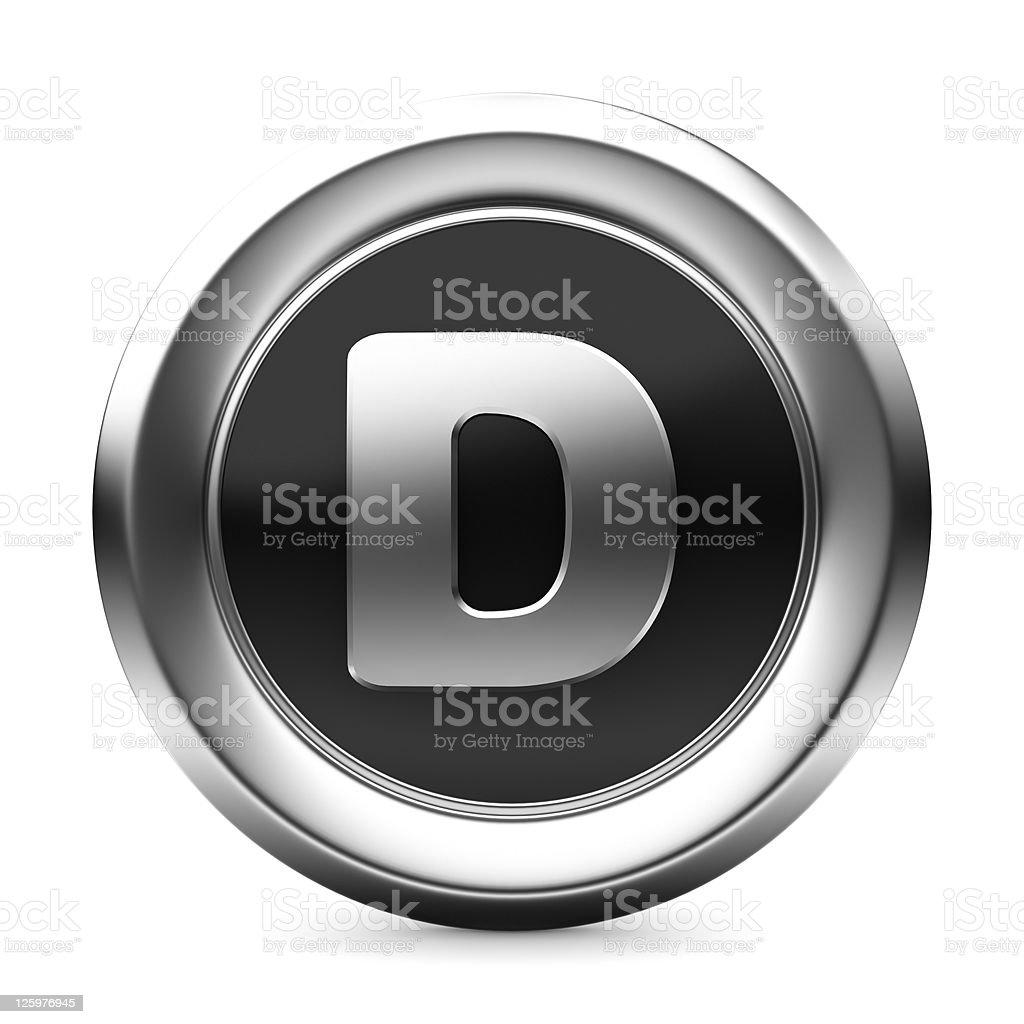icon letter D royalty-free stock photo