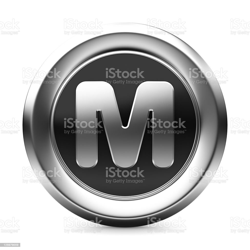icon letter M stock photo