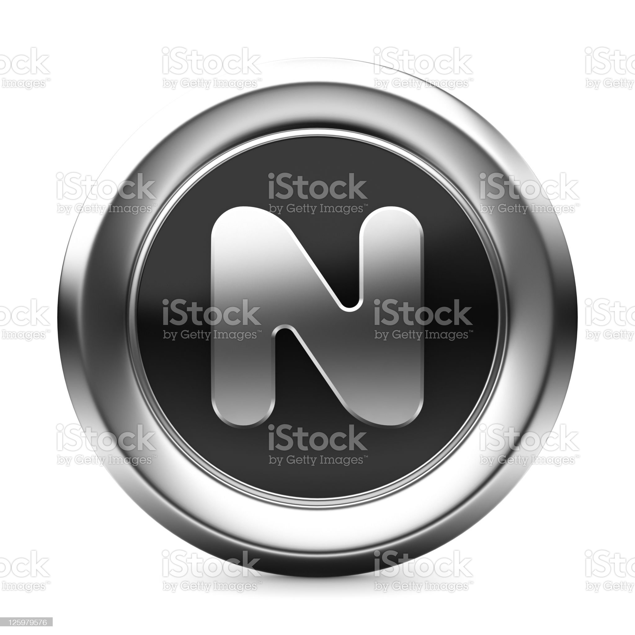 icon letter N royalty-free stock photo