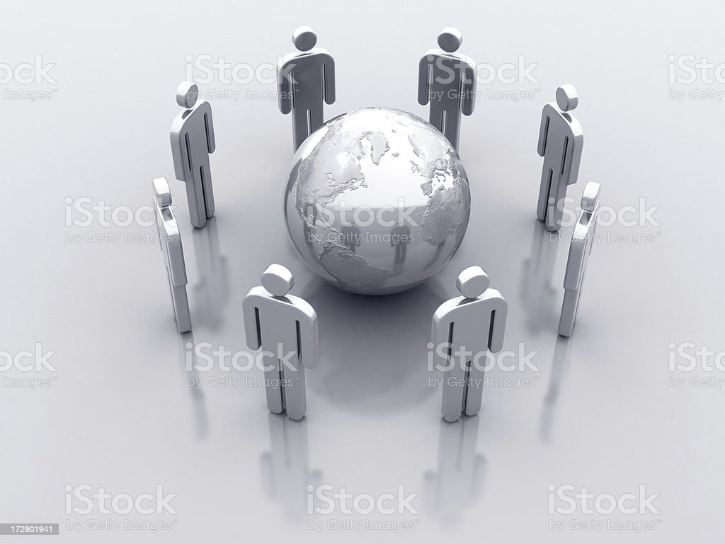 Icon Men: Global Communication royalty-free stock photo