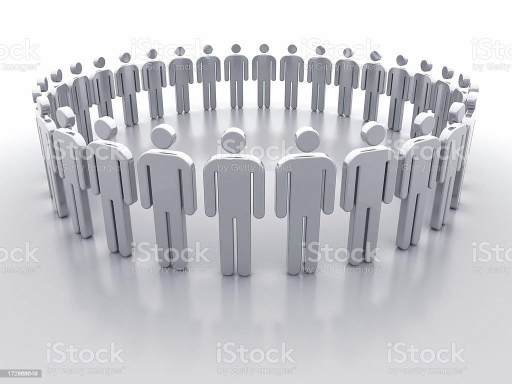 Icon Men in Circle III stock photo
