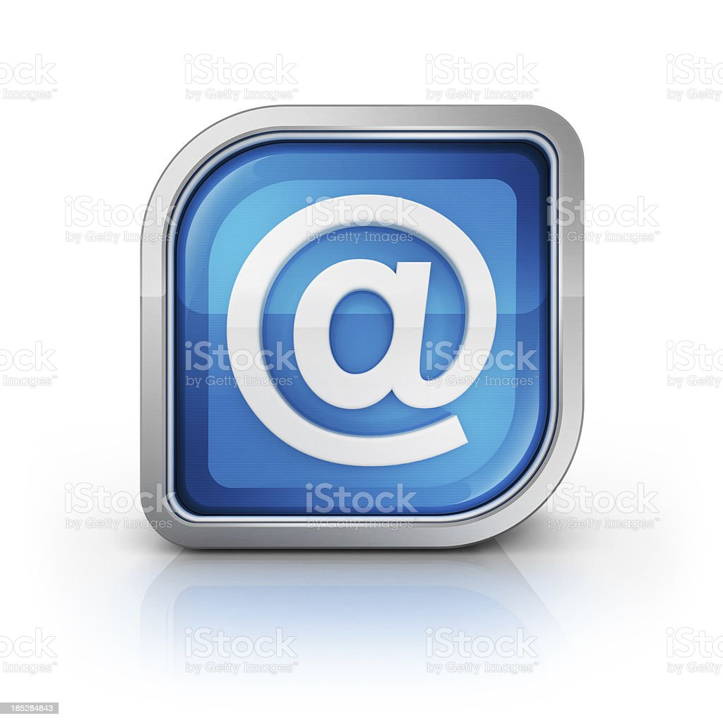 icon of email at symbol stock photo