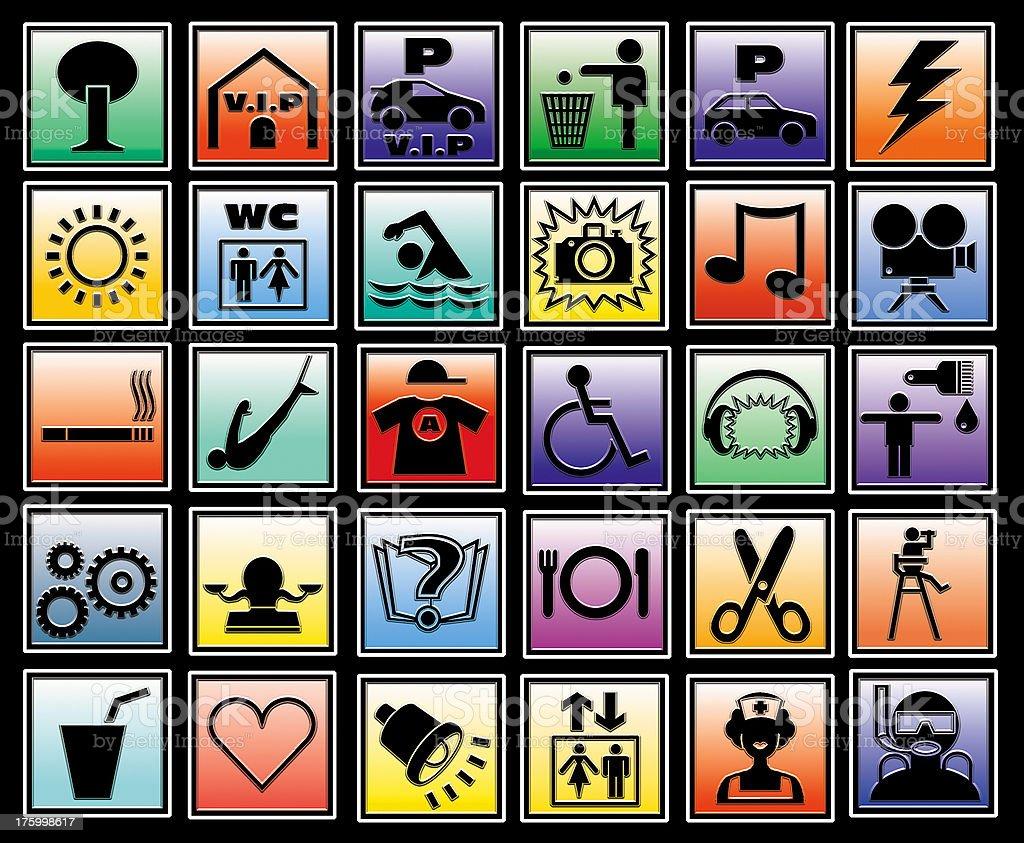 30 icon - pictograms royalty-free stock photo