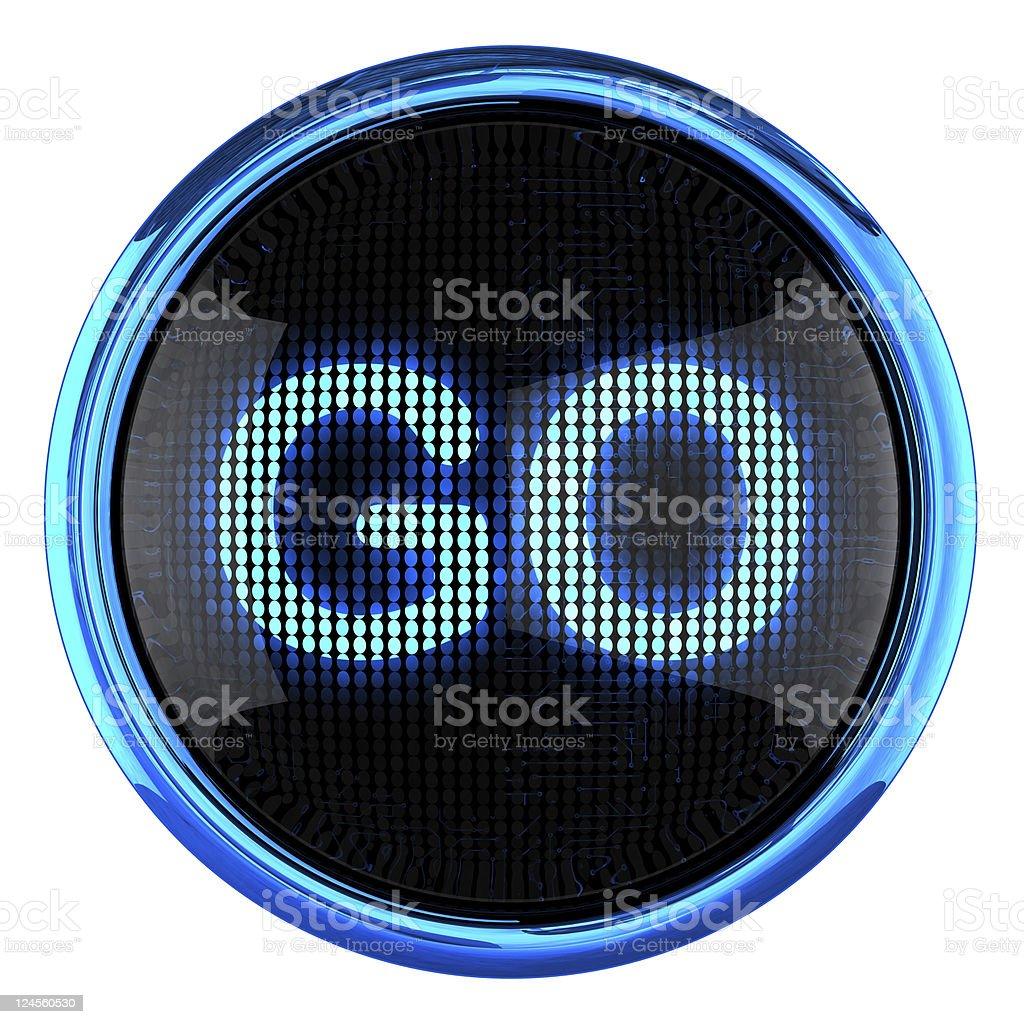 GO icon royalty-free stock photo