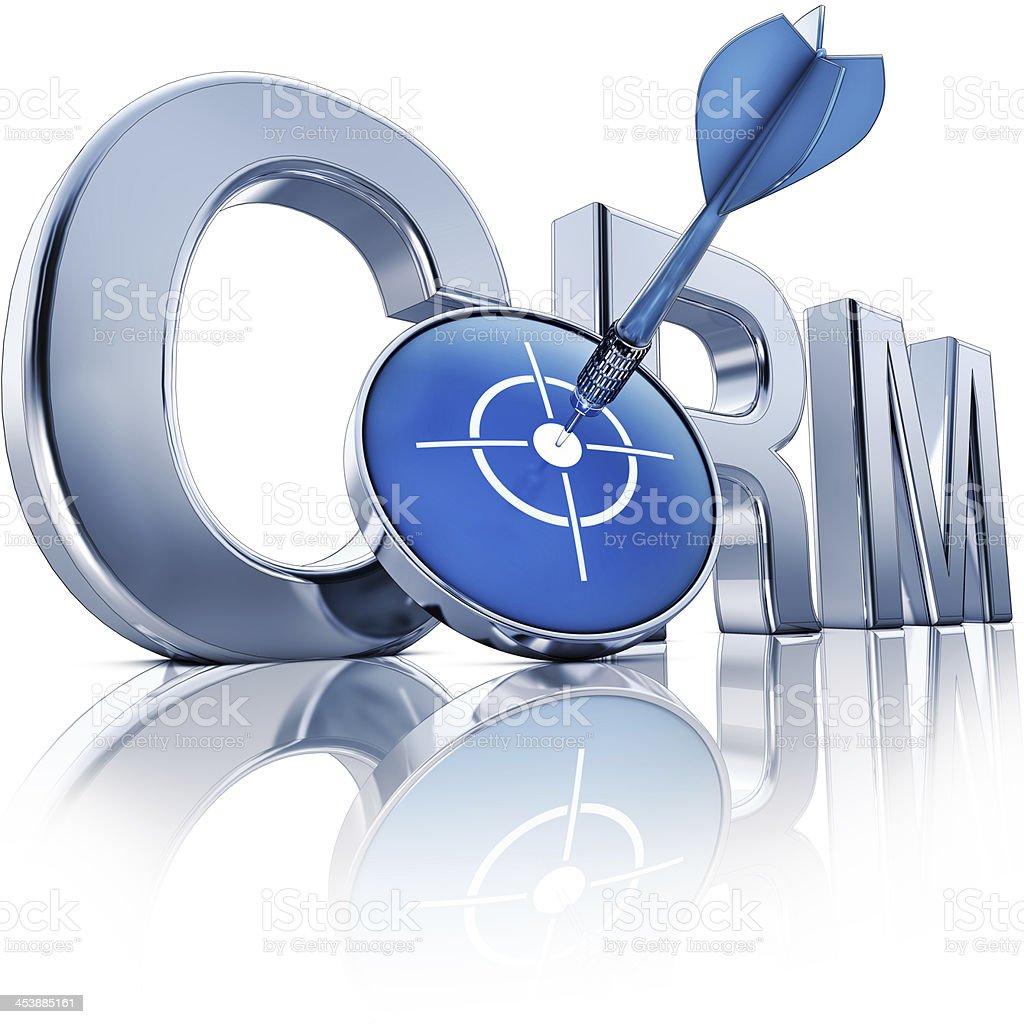 CRM icon stock photo