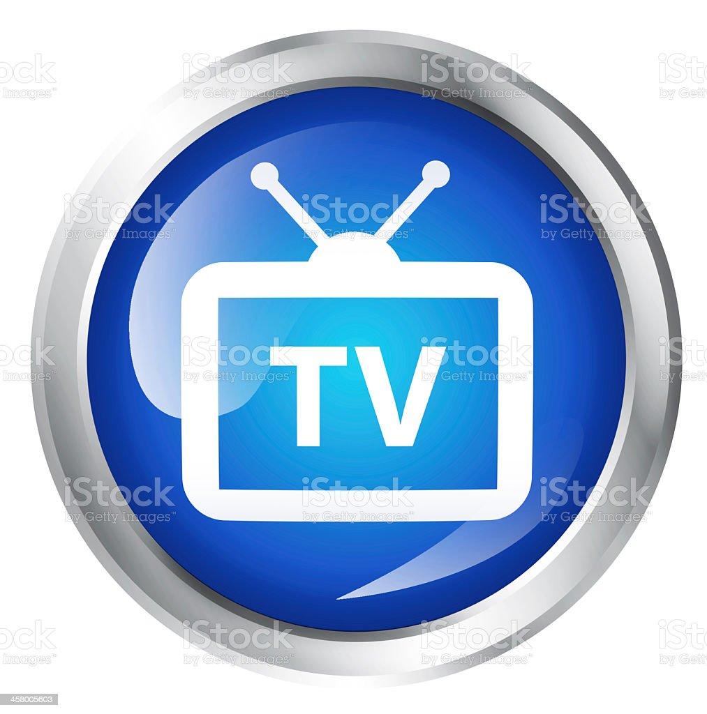 TV icon royalty-free stock photo