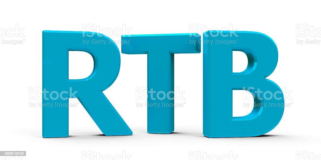 RTB icon stock photo