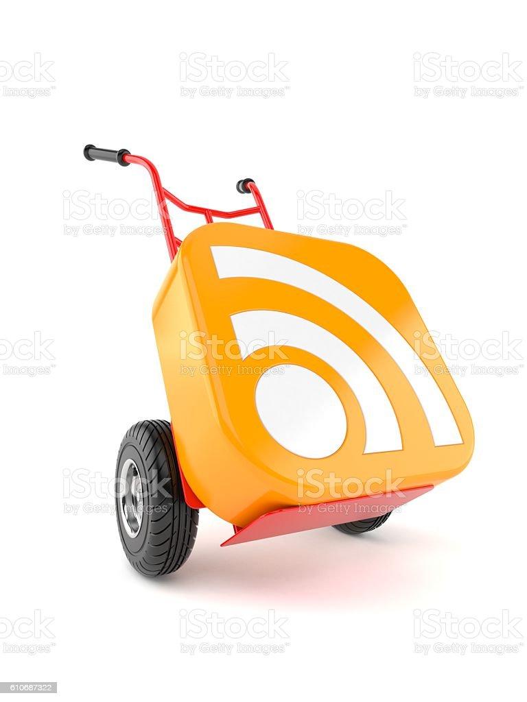 RSS icon stock photo