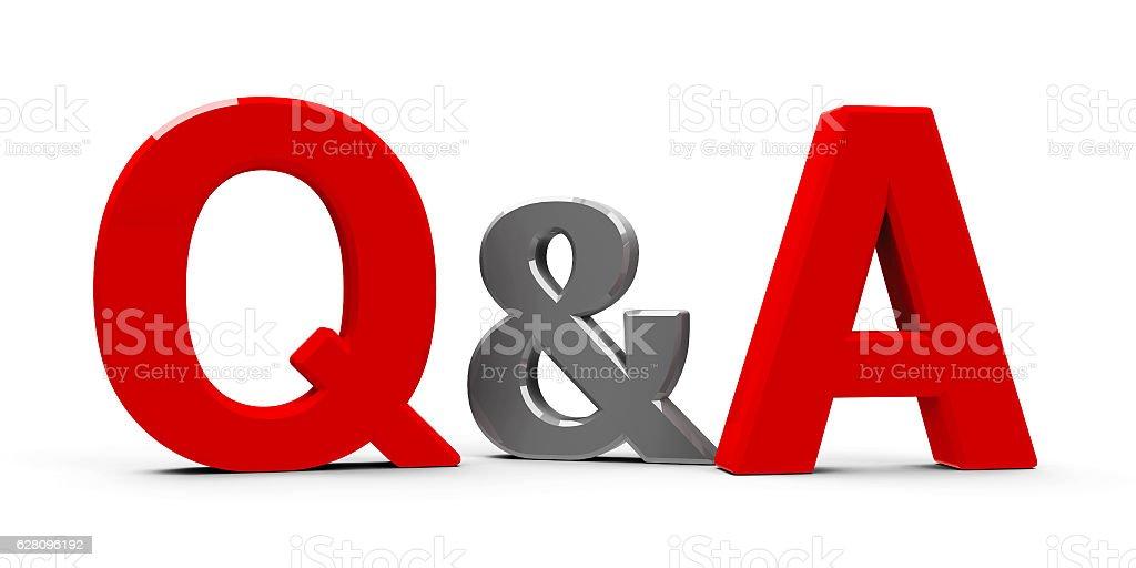 Q&A icon stock photo