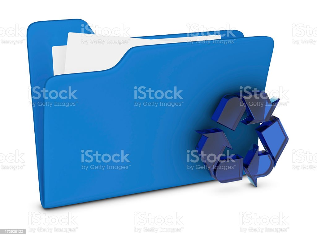 Icon Shopping - Recycling royalty-free stock photo