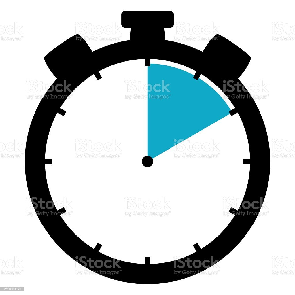 Icon Stopwatch 10 Minutes 10 Seconds 2 hours stock photo