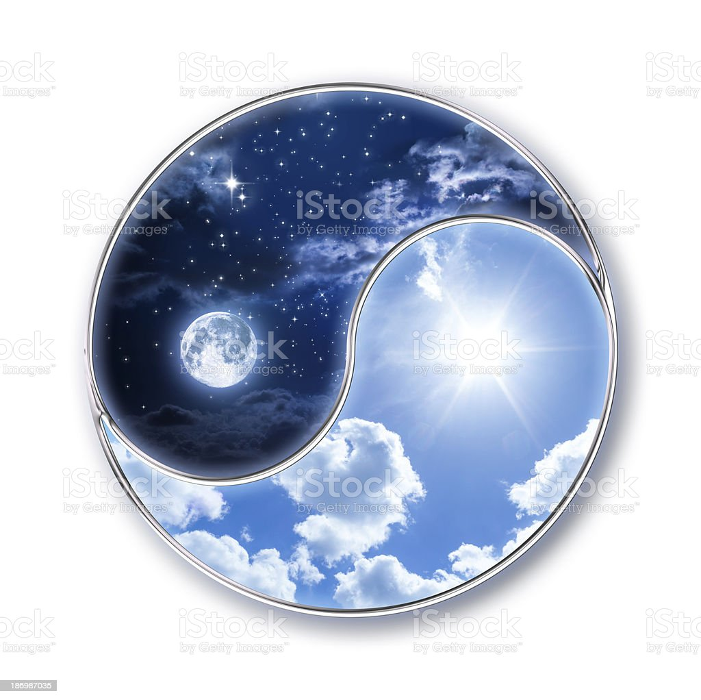 icon tao - moon and sun stock photo