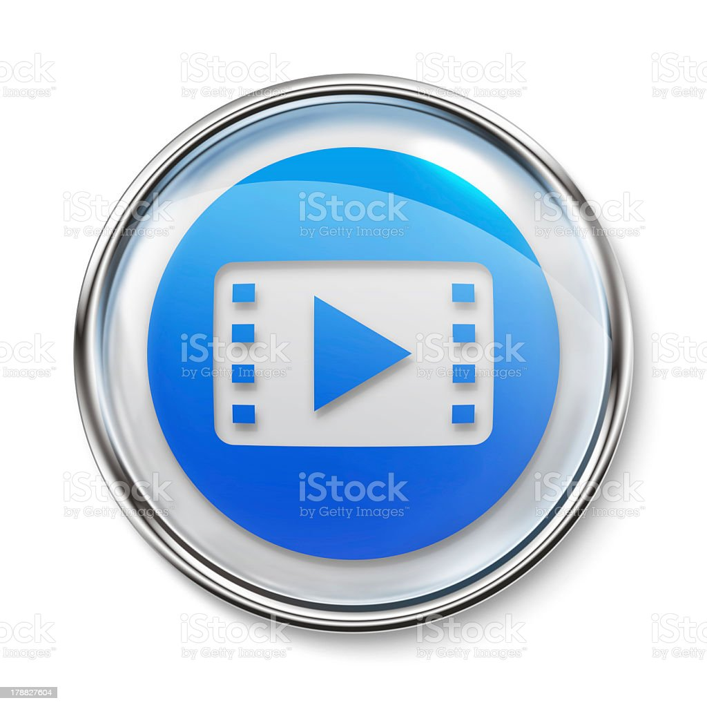 Icon - Video Play royalty-free stock photo