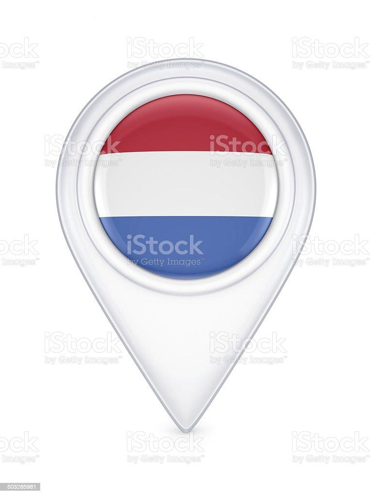 Icon with dutch flag. royalty-free stock photo