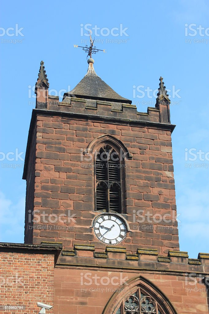 Iconic buildings of Chester, UK stock photo