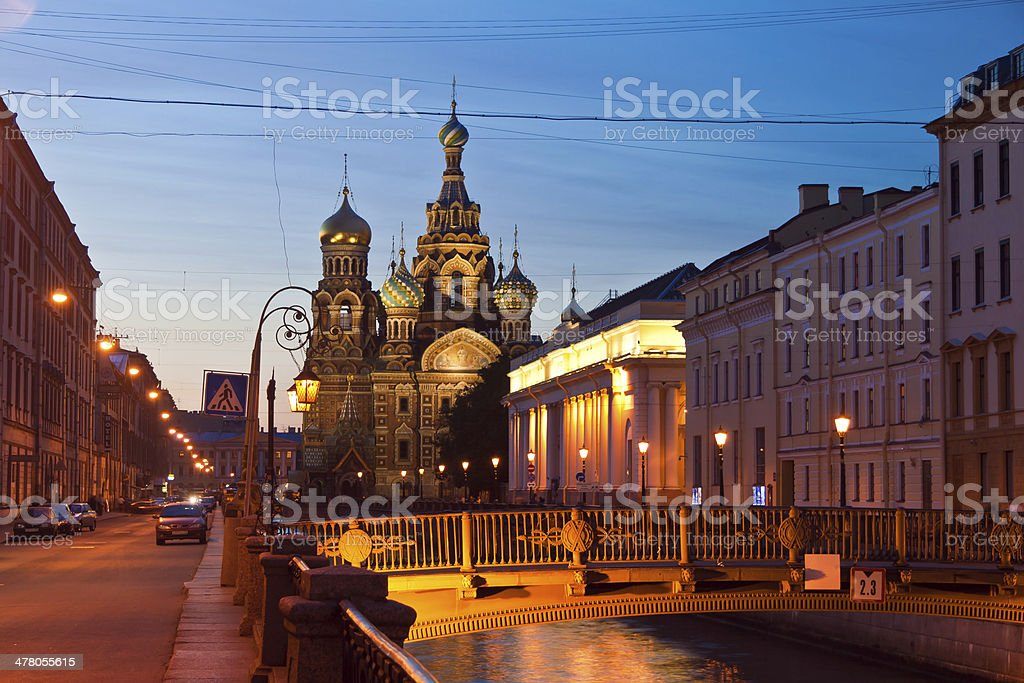 Iconic church of the Savior on blood, St Petersburg, Russia royalty-free stock photo