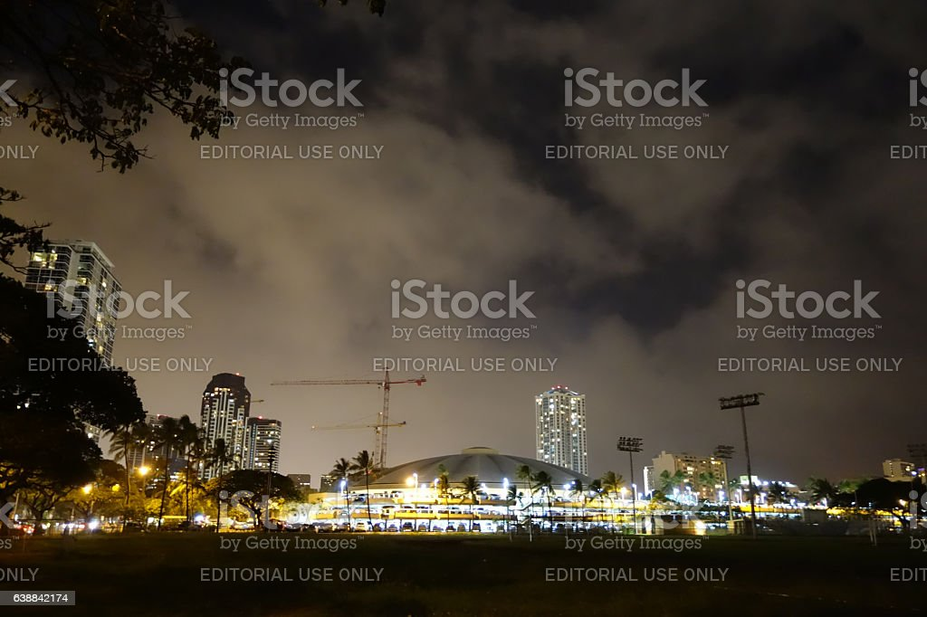 Iconic concert hall the Neal Blaisdell Center stock photo