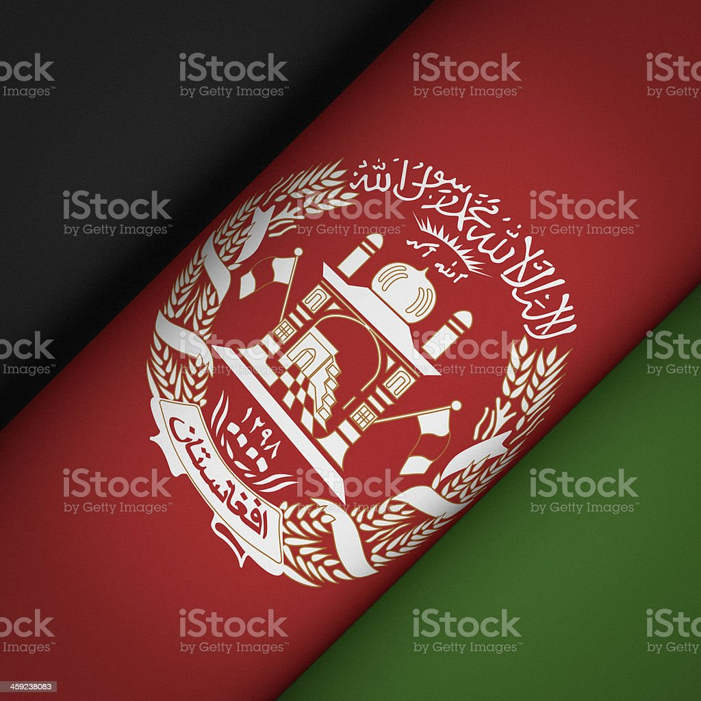 Iconic Flag of Afghanistan stock photo