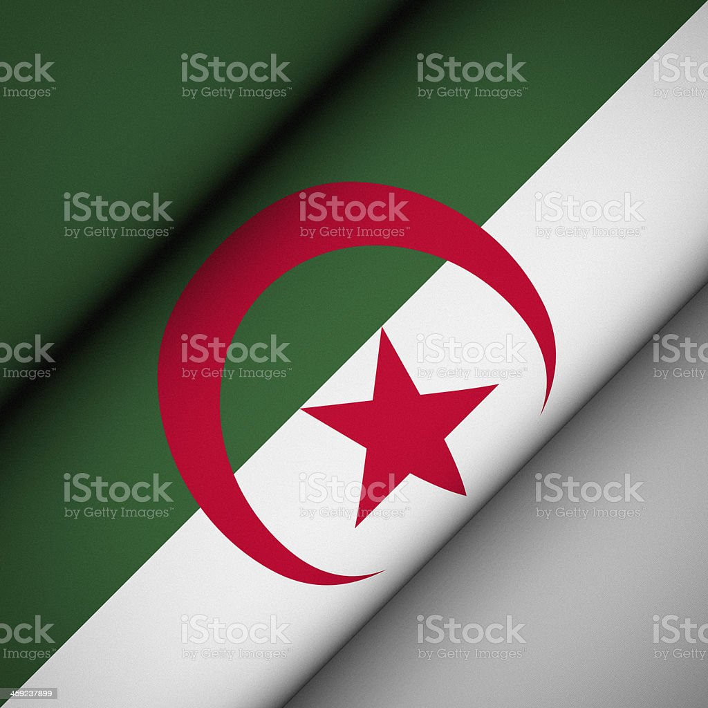 Iconic Flag of Algeria stock photo