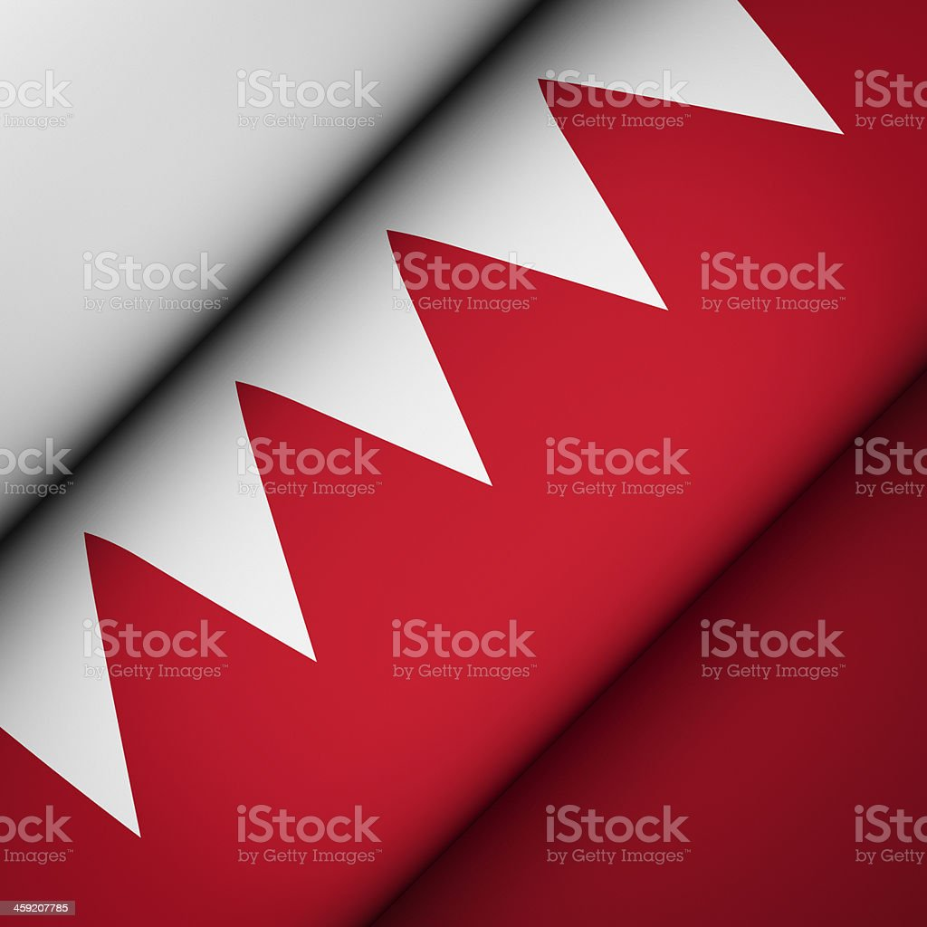 Iconic Flag of Bahrain stock photo