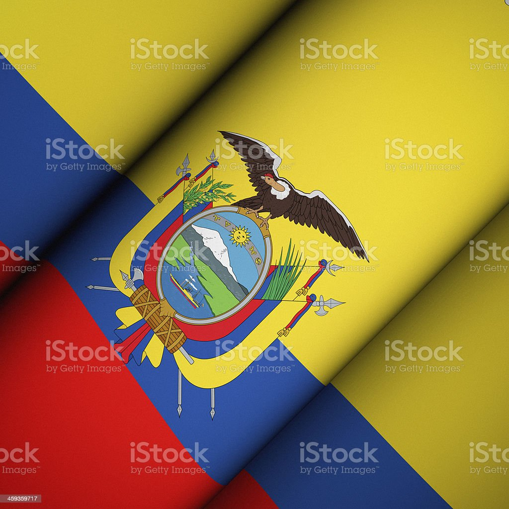Iconic Flag of Ecuador stock photo