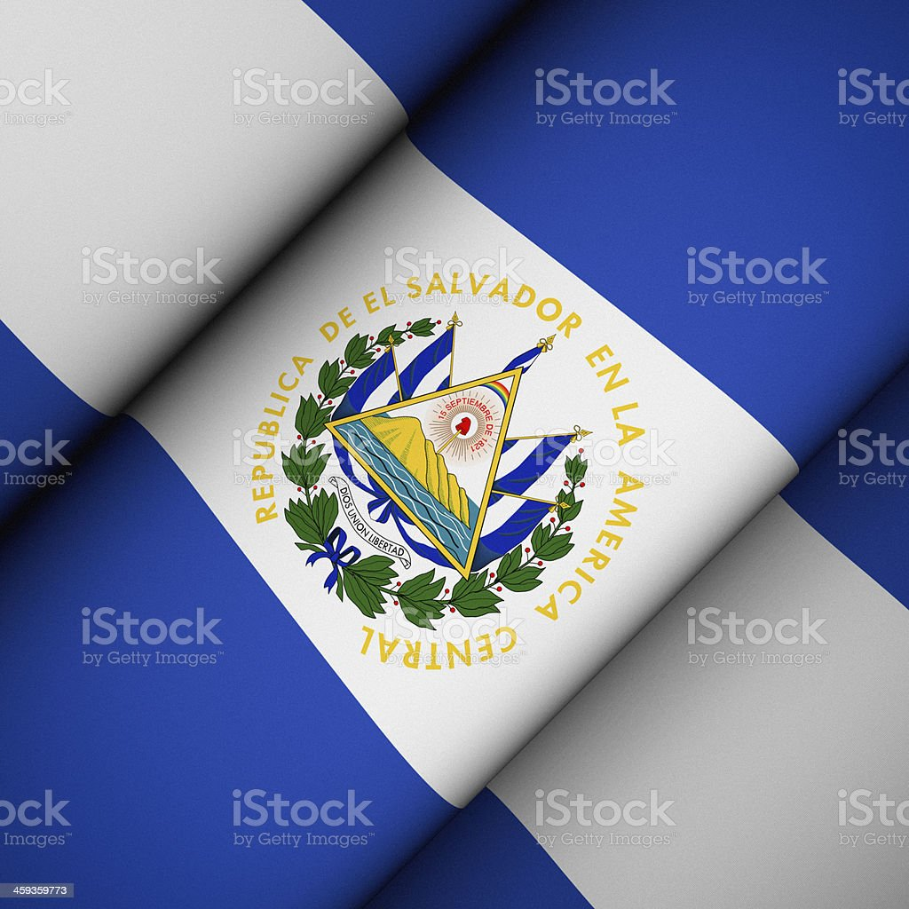 Iconic Flag of El Salvador stock photo
