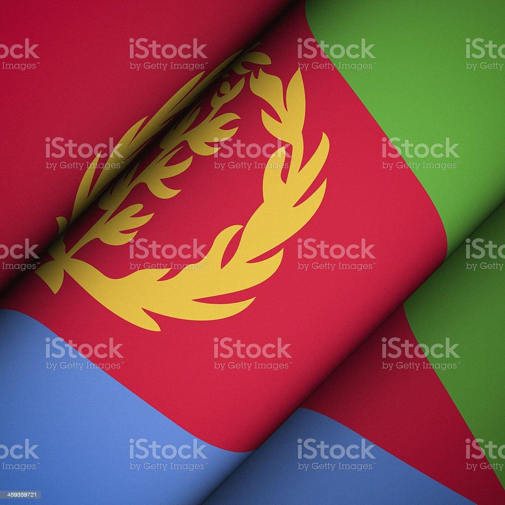 Iconic Flag of Eritrea stock photo