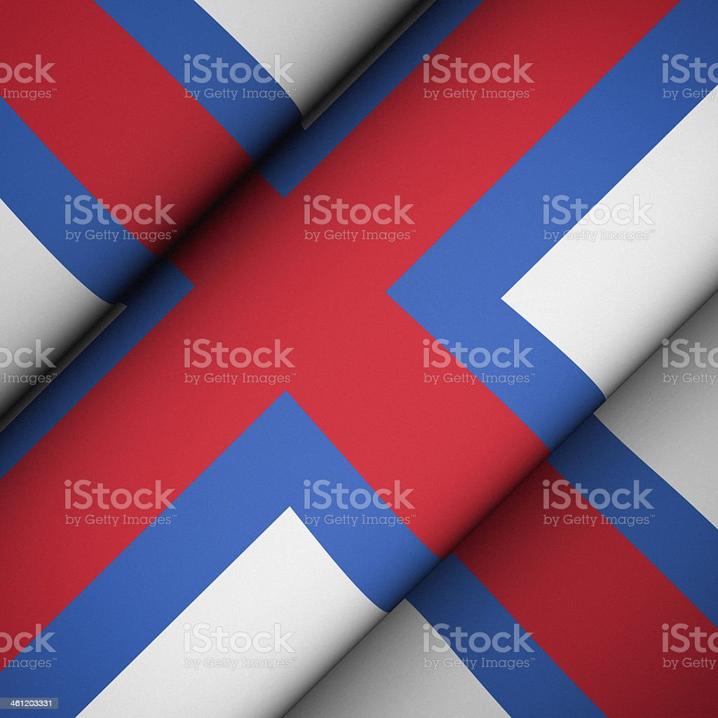 Iconic Flag of Faroe Islands stock photo