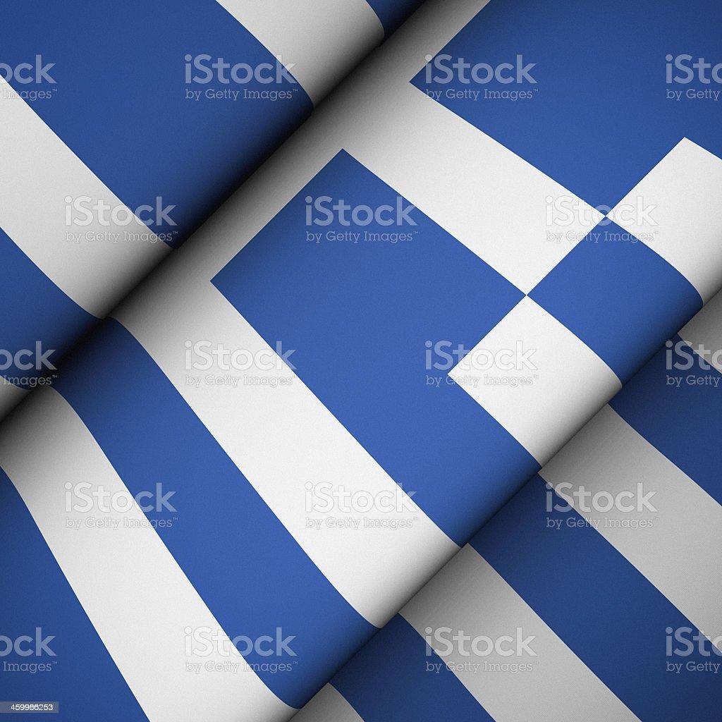Iconic Flag of Greece stock photo
