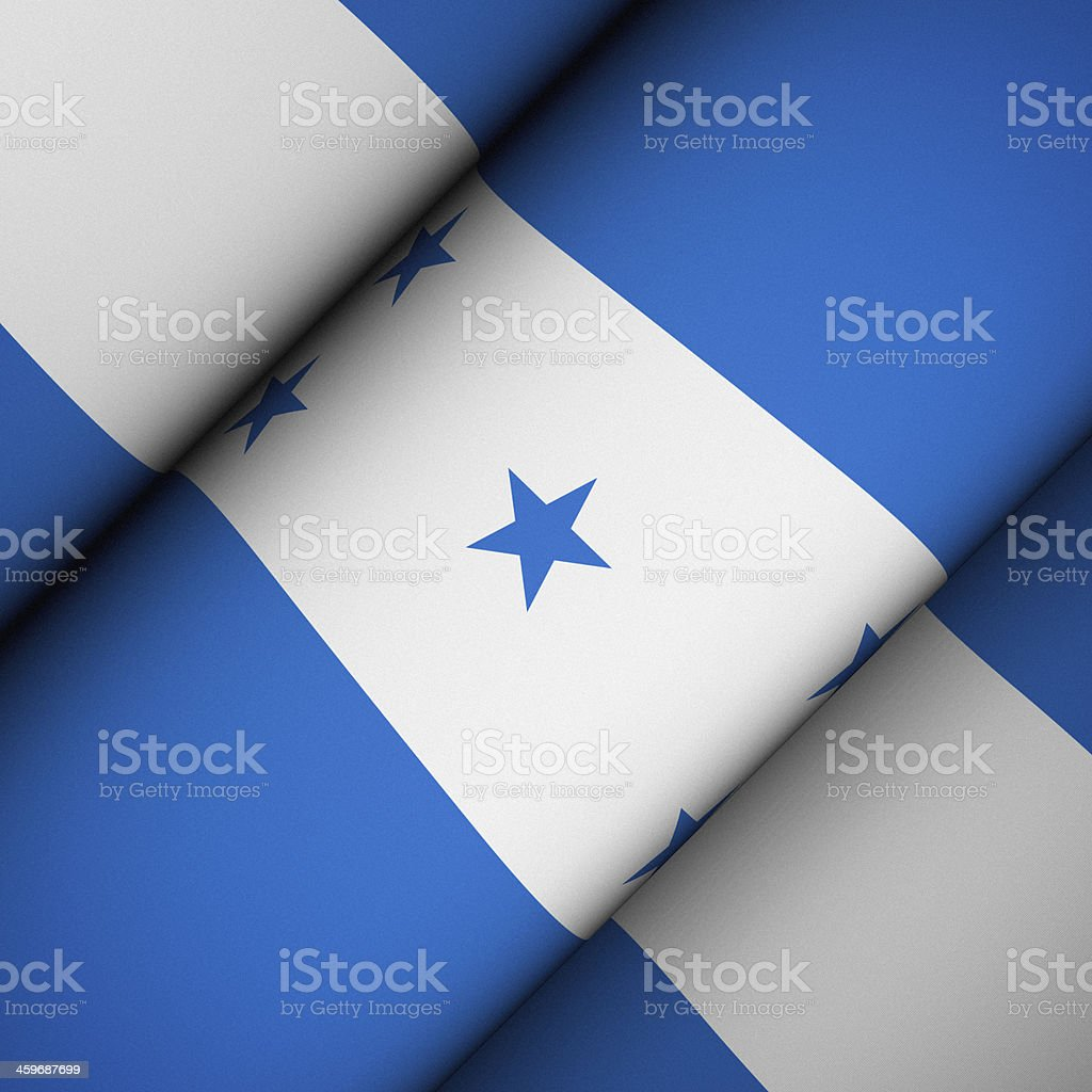 Iconic Flag of Honduras stock photo