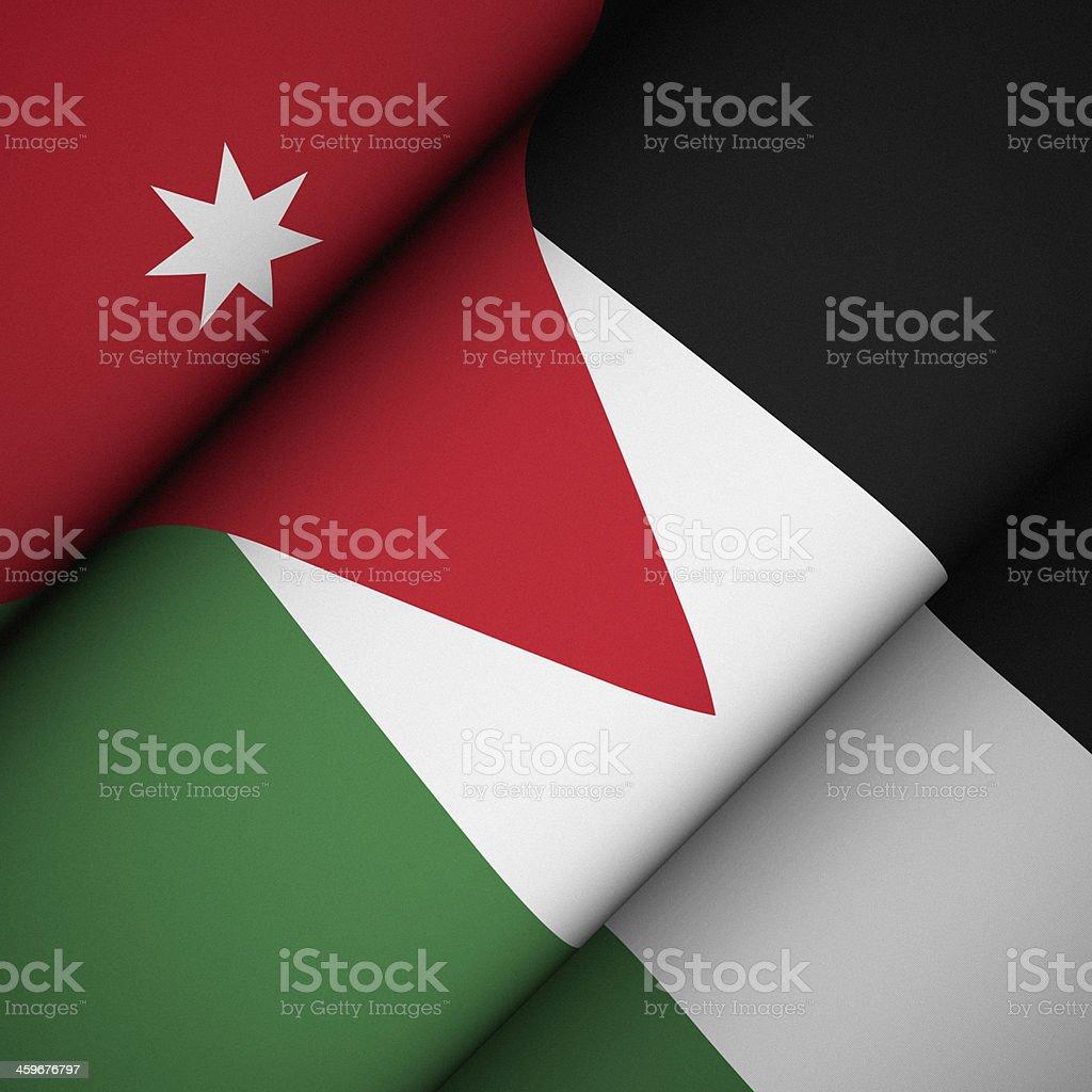 Iconic Flag of Jordan stock photo