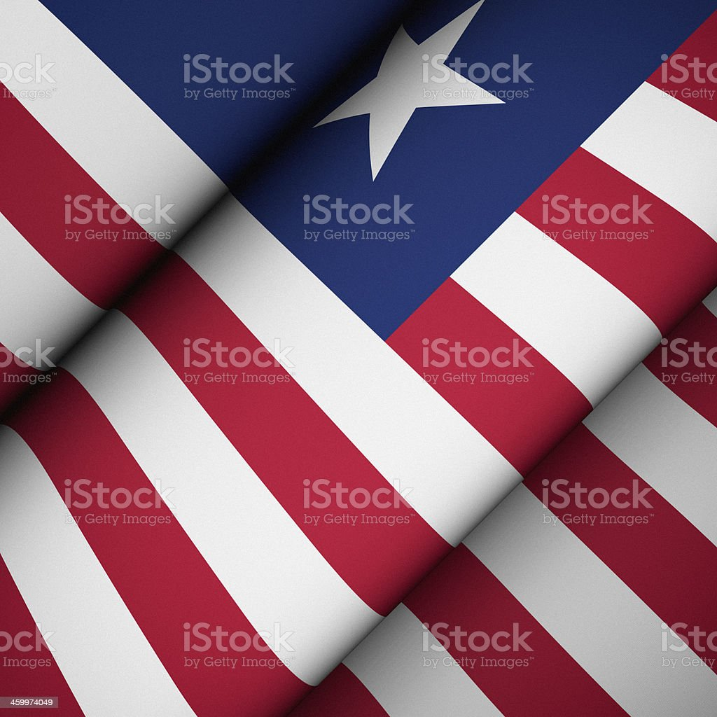 Iconic Flag of Liberia stock photo