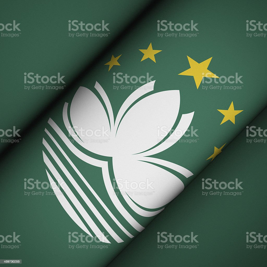 Iconic Flag of Macau stock photo