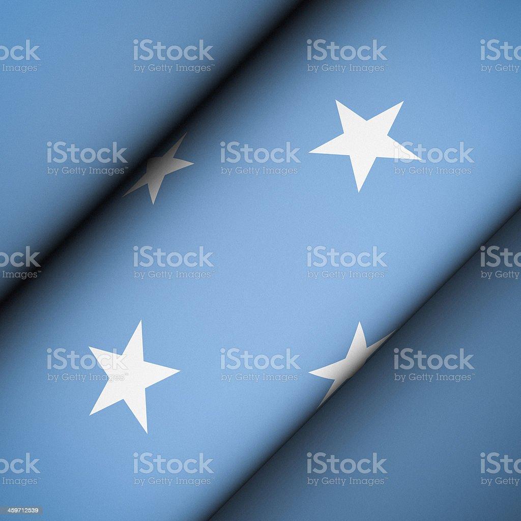 Iconic Flag of Micronesia stock photo