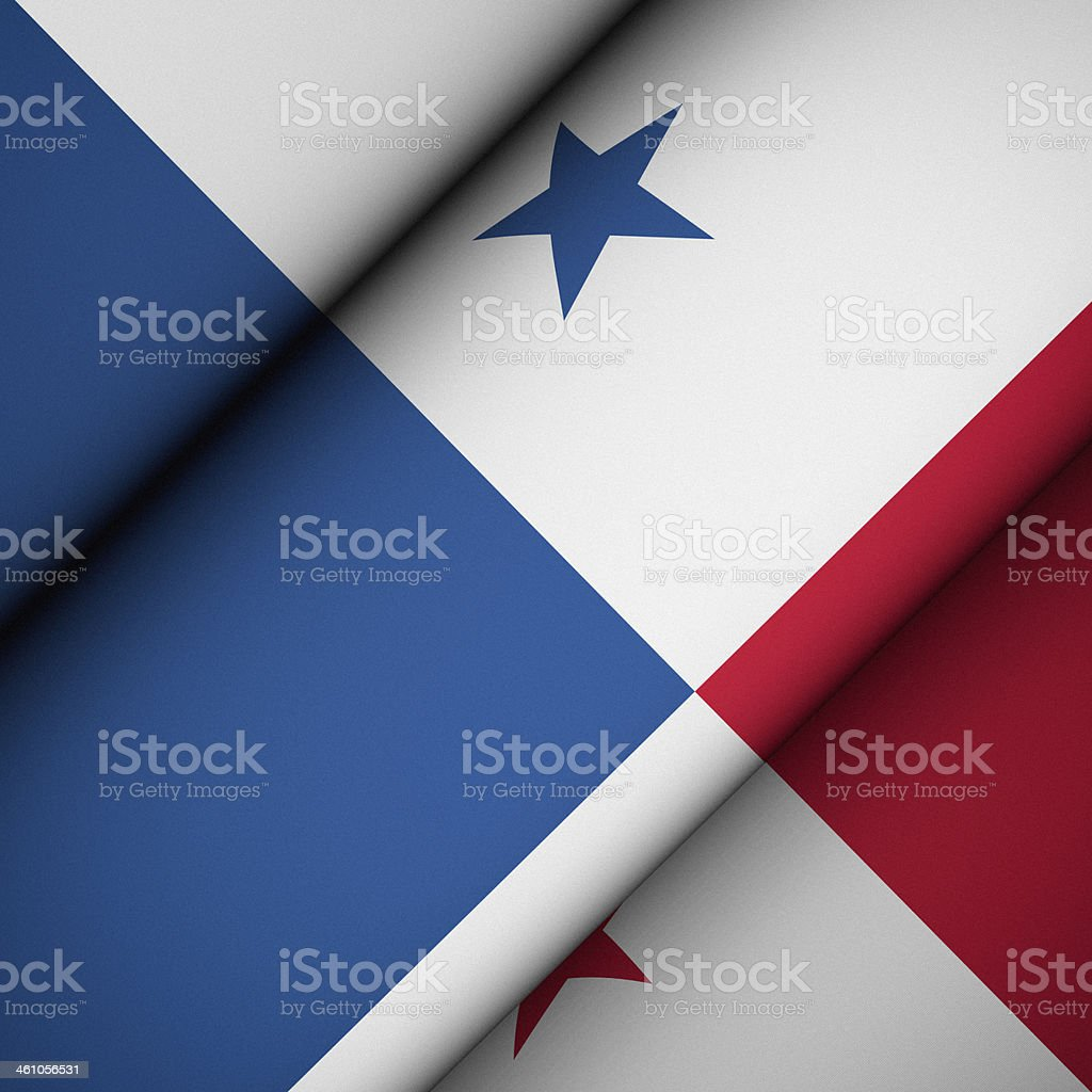 Iconic Flag of Panama stock photo