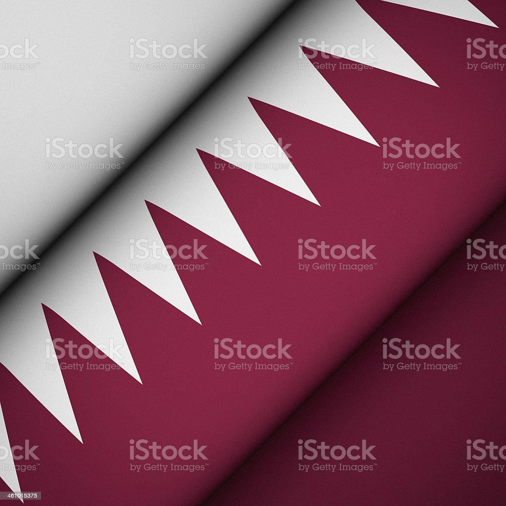 Iconic Flag of Qatar stock photo