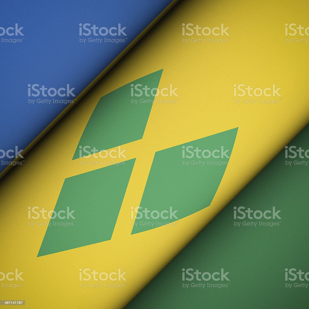 Iconic Flag of Saint Vincent and the Grenadines stock photo