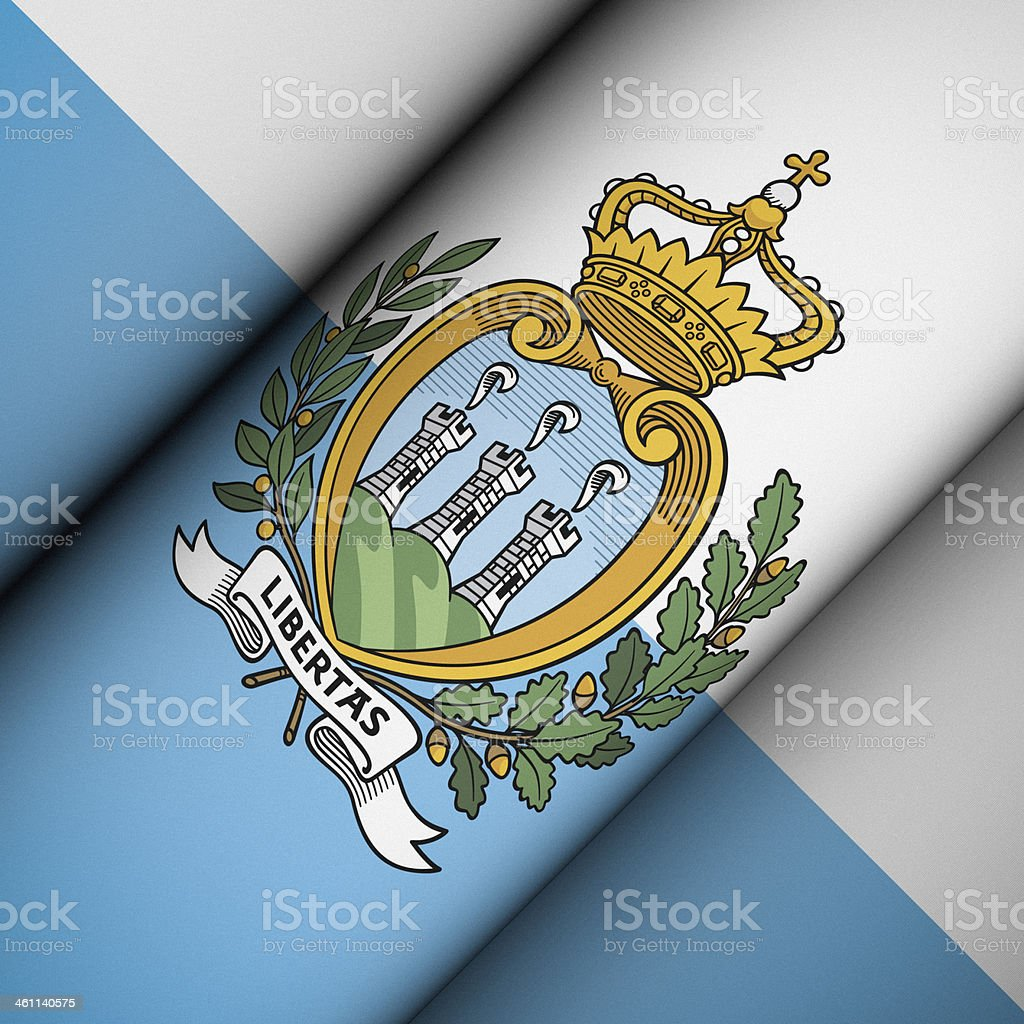 Iconic Flag of San Marino stock photo