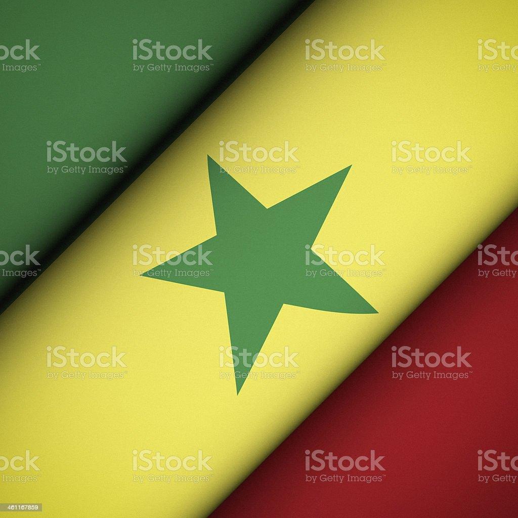 Iconic Flag of Senegal stock photo