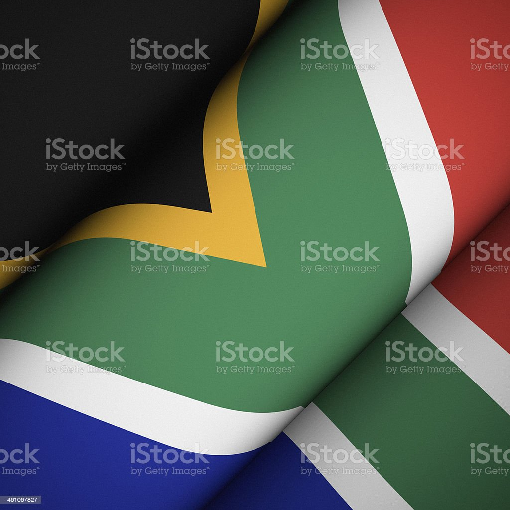 Iconic Flag of South Africa stock photo