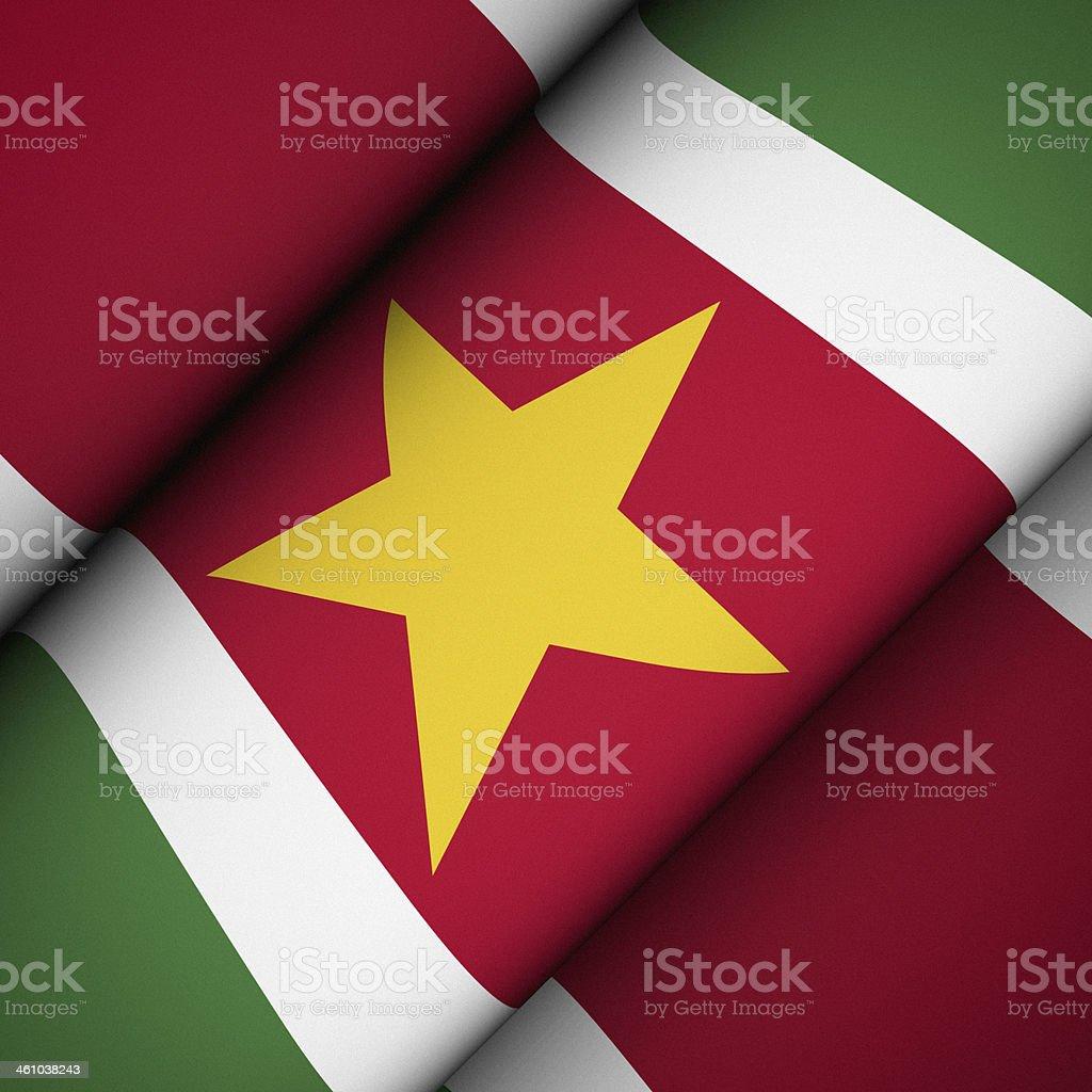 Iconic Flag of Suriname stock photo