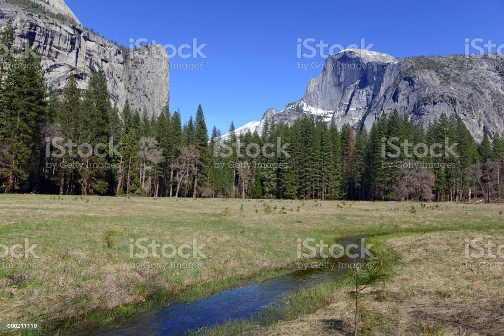 Iconic Half Dome, Yosemite National Park, USA stock photo
