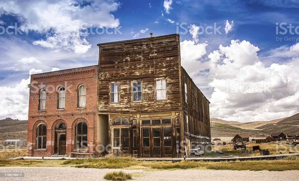 Iconic Old West Main Street stock photo